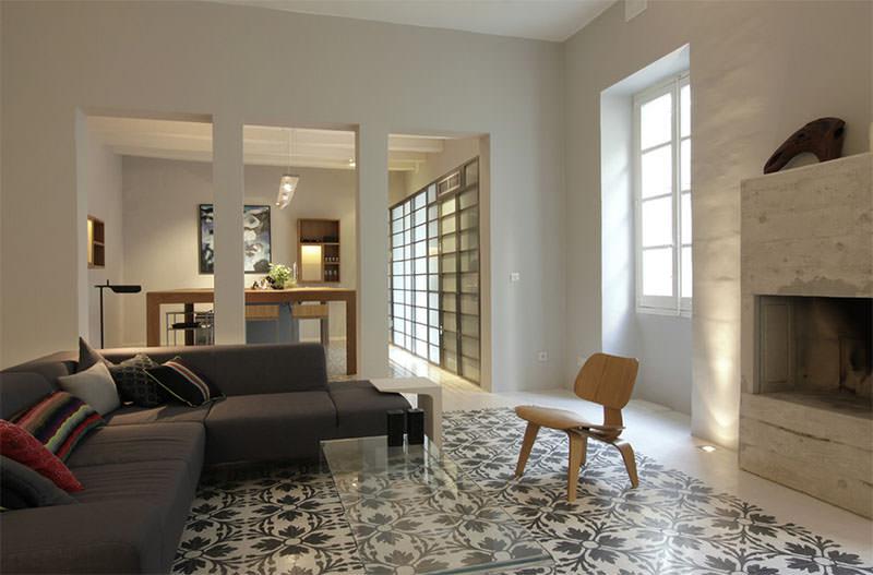 Construindo minha casa clean 30 decora es para voc amar - Ladrillo hidraulico ...