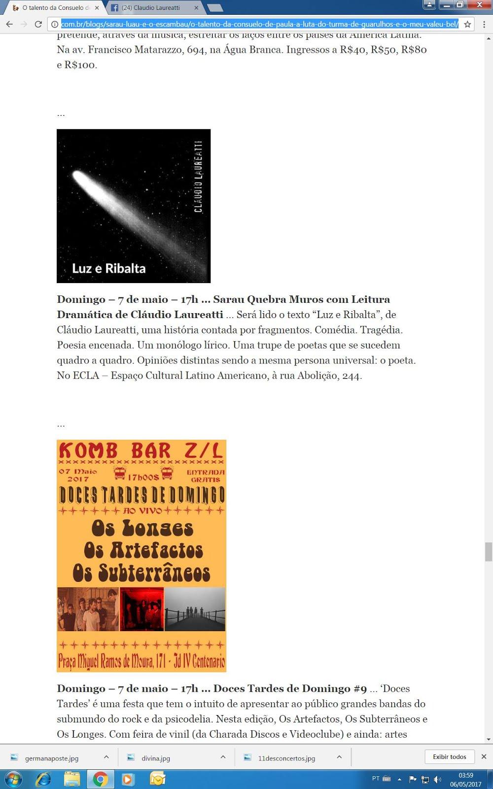 Luz e Ribalta no ECLA (Espaço Cultural Latino-Americano)