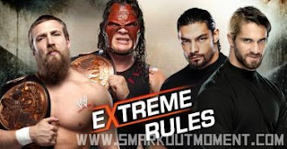 Extreme Rules 2013 PPV Tornado Tag Shield vs Kane Daniel Bryan Hell No