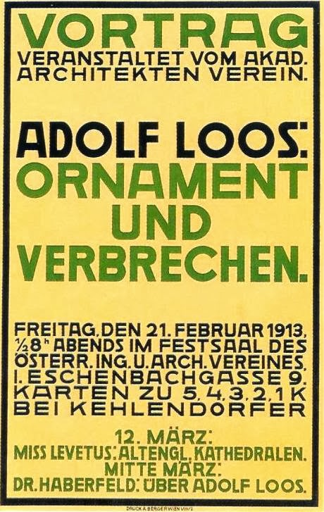 adolf loos ornament and crime essay pdf Adolf loos - download as word doc (doc / docx), pdf file (pdf), text to adolf loos, the lack of ornament in architecture was a sign in ornament & crime.