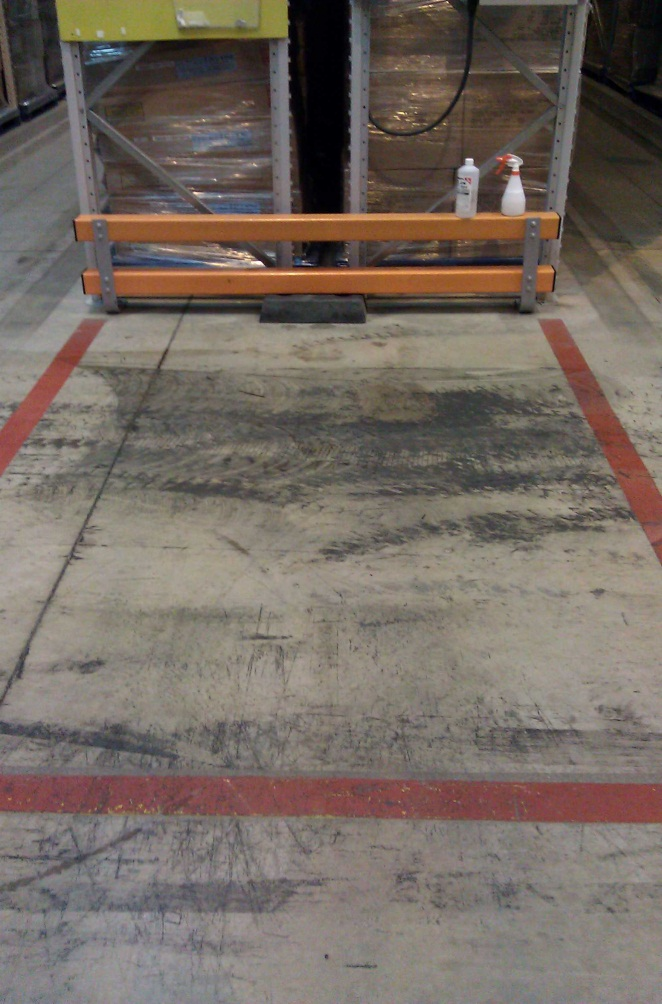 how to clean tyre marks of sealed concrete floor