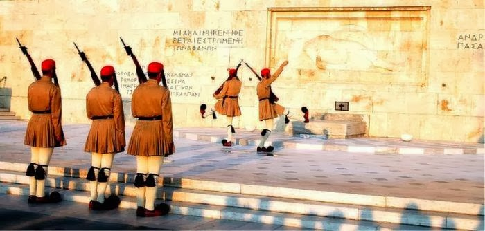 Monument of the Unknown Soldier on Syntagma Square in Athens, Greece
