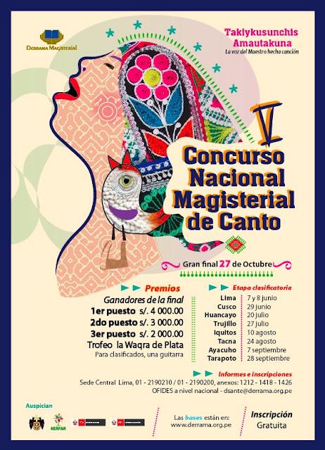 Afiche Concurso Nacional Magisterial de Canto