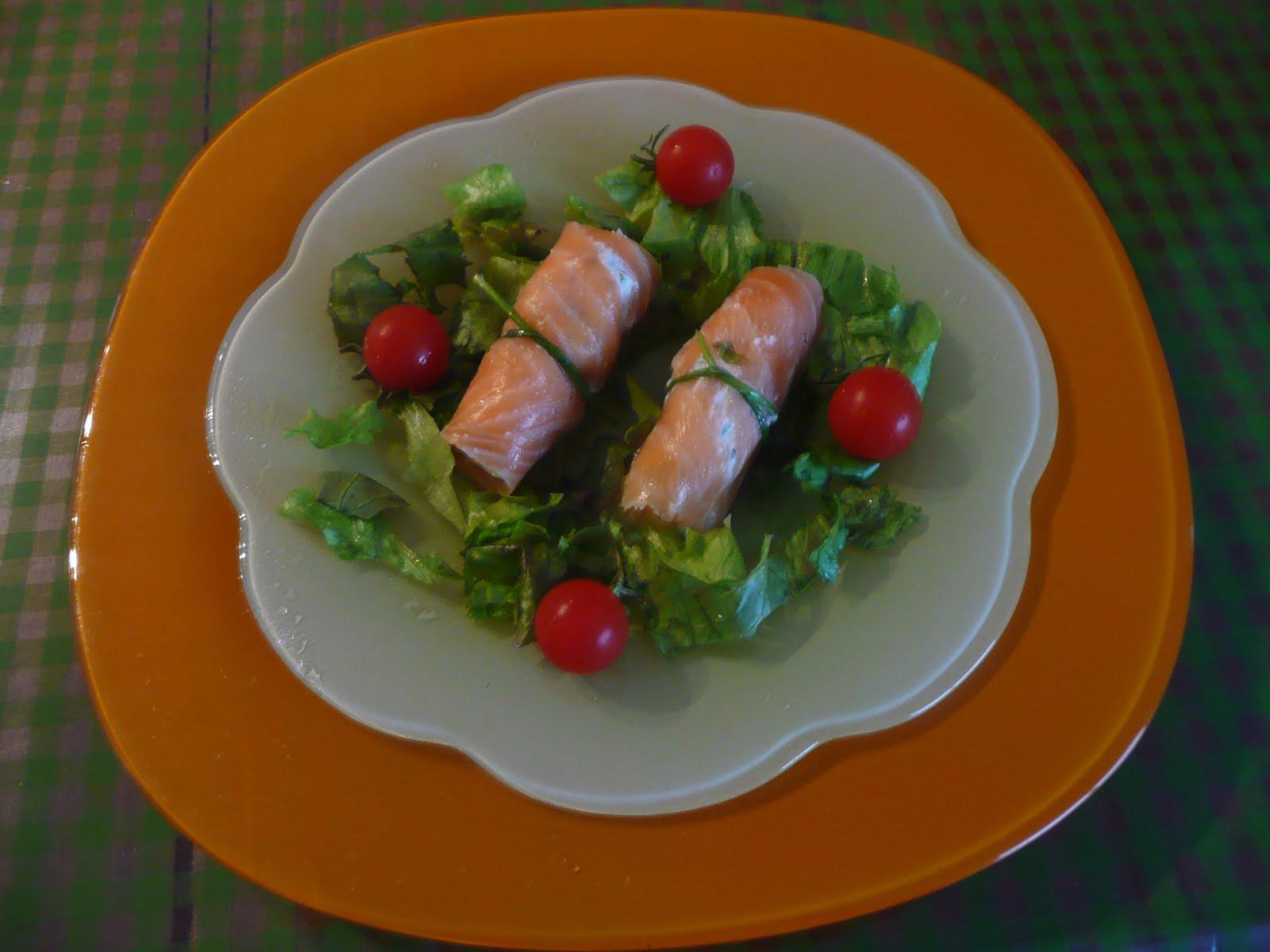 La cuisine de fran oise maki de saumon fume au coeur de for Au coeur de la cuisine