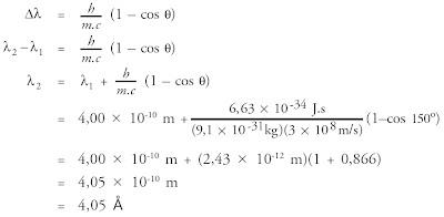 kecepatan dan panjang gelombang dari foton setelah tumbukan