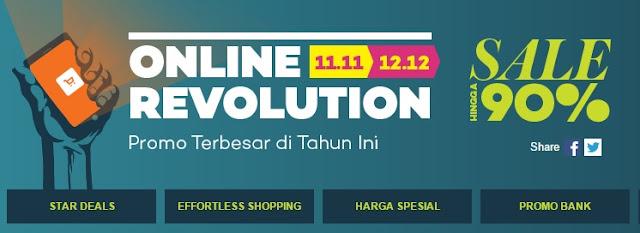 Promo akhir tahun. Diskon akhir tahun. Flash sale. Online revolution. Hari belanja online nasional.