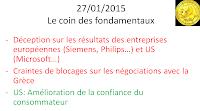 actualités boursières du 27 janvier 2015
