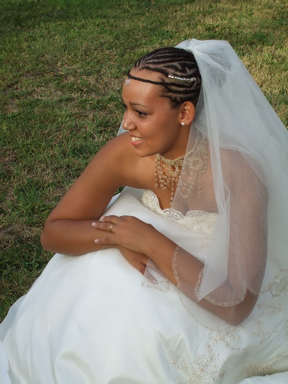 African American Wedding Hairstyles Hairdos Real Bride Crowning Glory