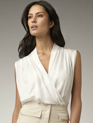 Draped Wrap Blouse