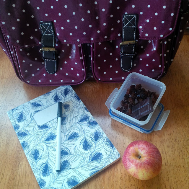 Burgundy Polka Dot Satchel, Notebook, Apple, Snack Box | Petite Silver Vixen