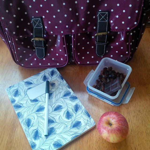 Burgundy Polka Dot Satchel, Notebook, Apple, Snack Box | Petite Silver Vixen