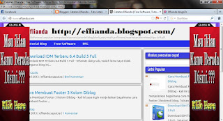 Cara pasang iklan melayang kanan dan kiri blog 1