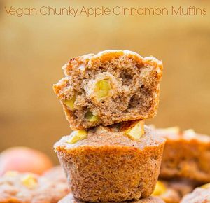 Vegan Chunky Apple Cinnamon Muffins