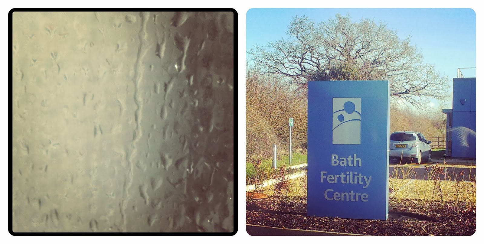 Shower water droplets - Bath Fertility Clinic in the sunshine