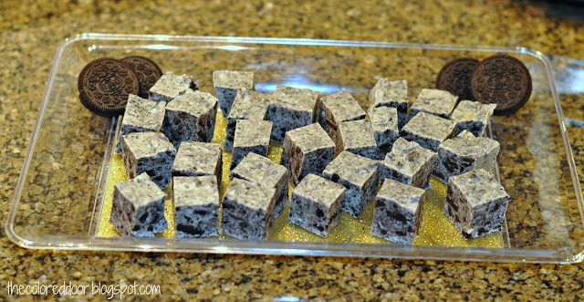 Easy cookies and cream fudge - the colored door