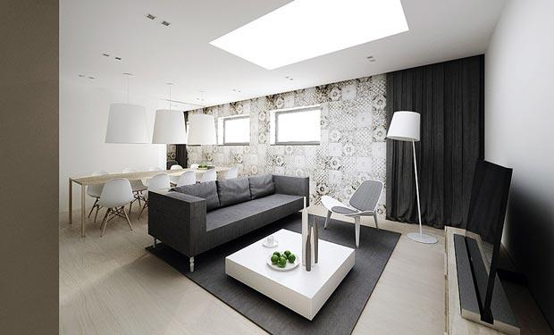 Moderno y minimalista interiores por paulina aguirre - Diseno minimalista interiores ...