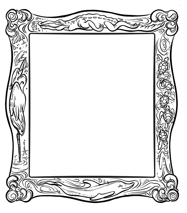 Coloring Picture Frames
