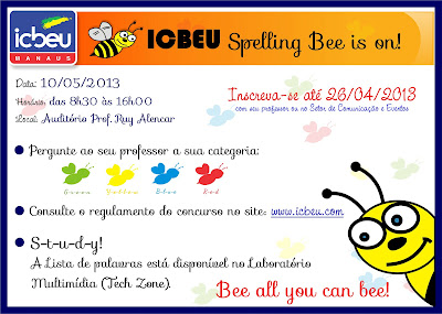 ICBEU MANAUS TECHZONE: Spelling Bee list and Rules