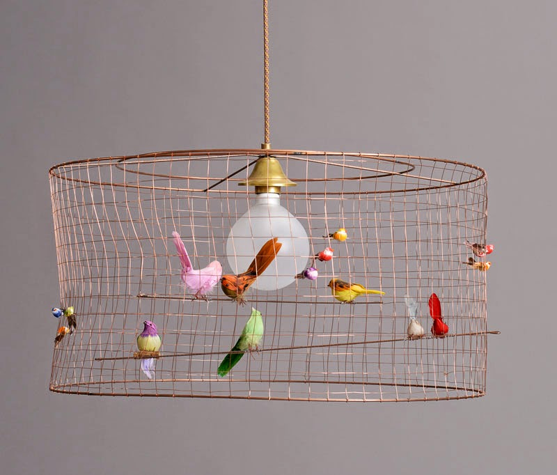 Lámpara Grande Volière de Mathieu Challière