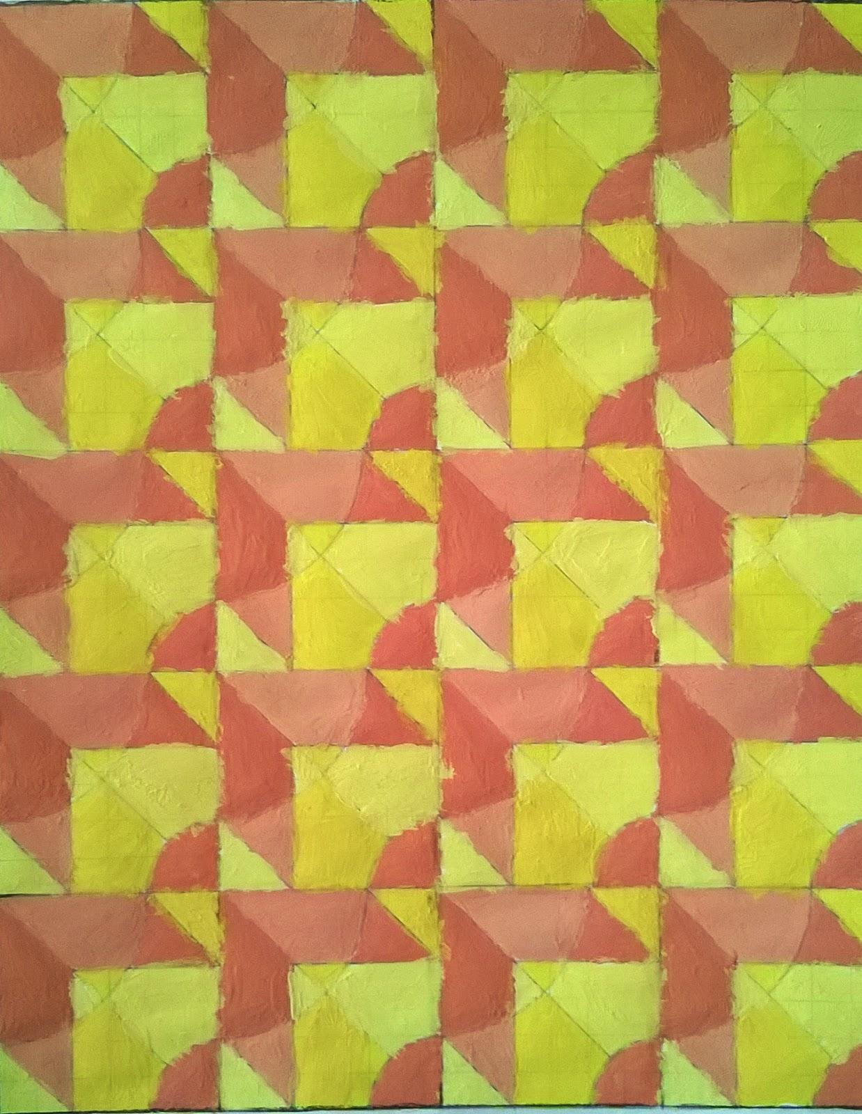 se les plante ejecutar la actividad de hacer un diseo modular de red cuadrada aplicando una gama de tonos clidos