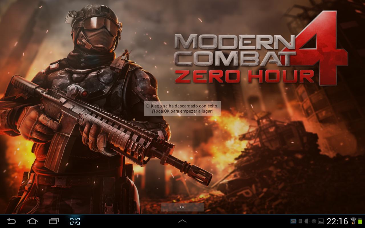Modern Combat 4: Zero Hour para android actualizado a v1.0.5 (APK