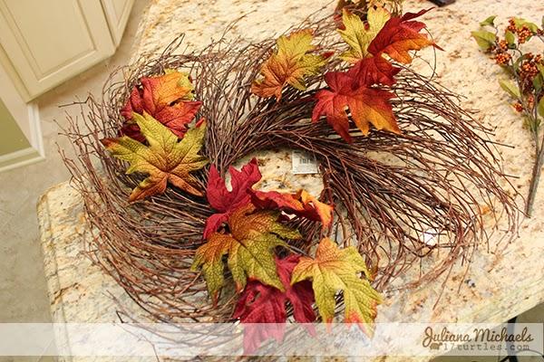 2 Blackbirds Autumn Wreath Tutorial by Juliana Michaels