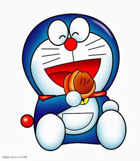 gambar kartun doraemon makan dorayaki