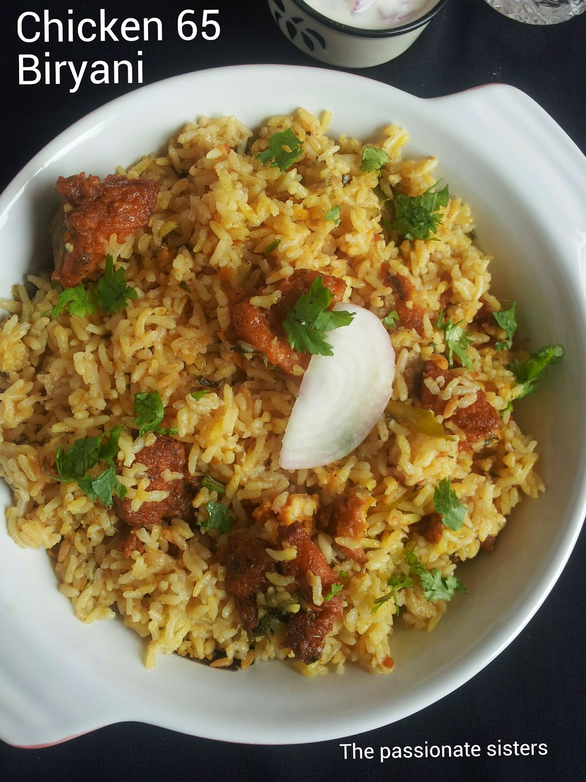 Chicken 65 biryani