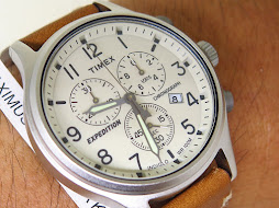 TIMEX EXPEDITION CHRONOGRAPH CREAM DIAL - BRAND NEW WATCH