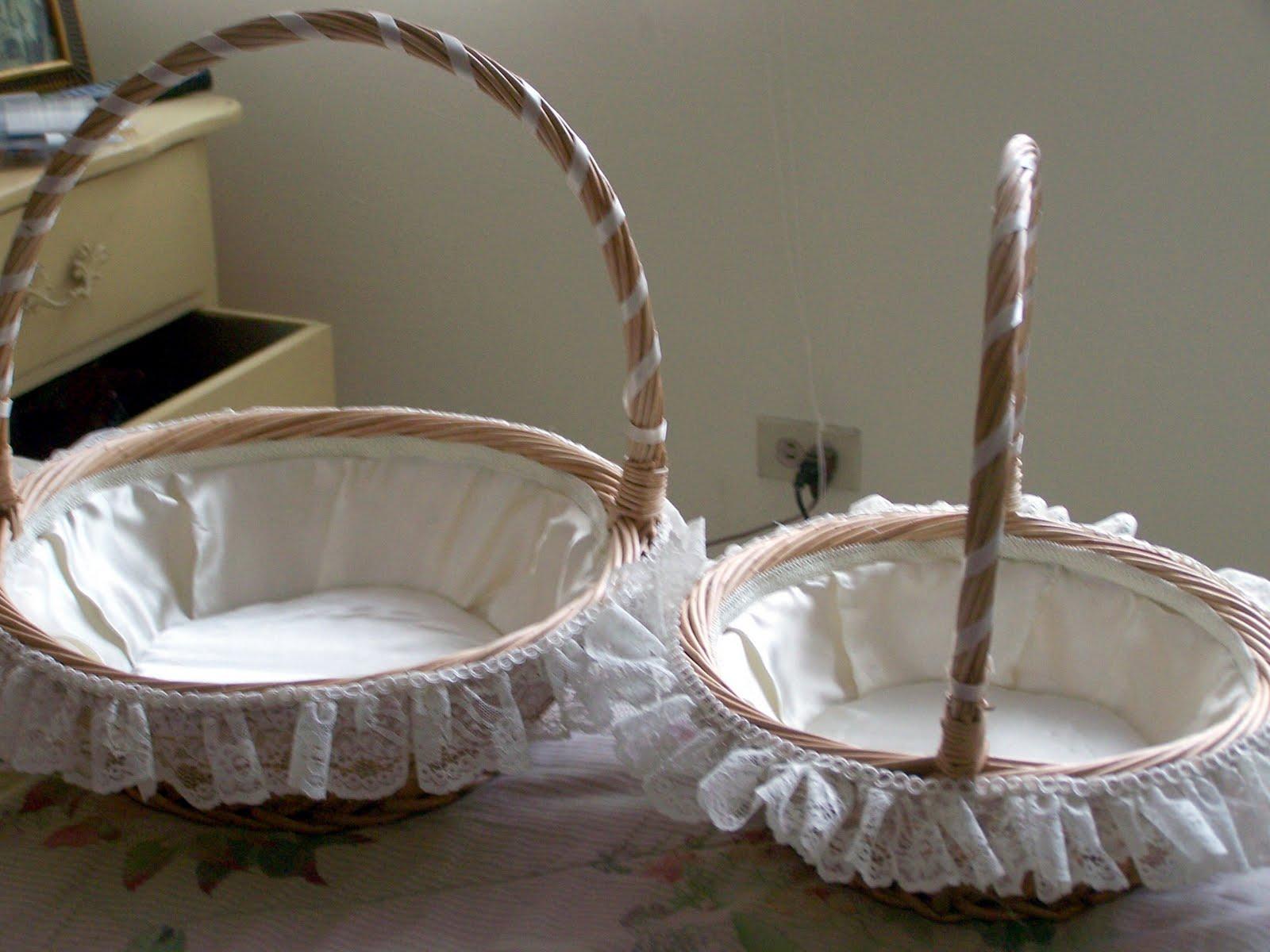 Clairesdetails: Como adornar canastas para primeras comuniones y bodas
