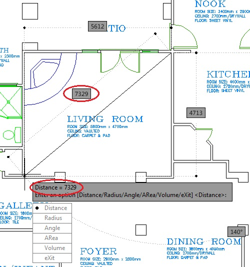 autocad how to make distance point