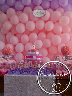 festa infantil rapunzel bolo papel rosa lilas