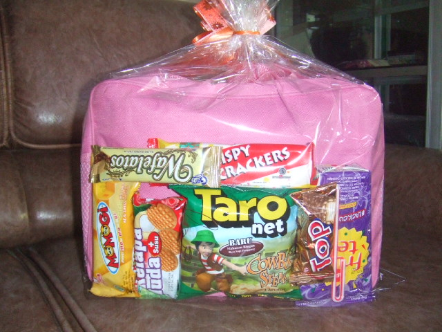Paket tas + snack IDR 22000 ( ukuran tas 20 x 30 x 8 )