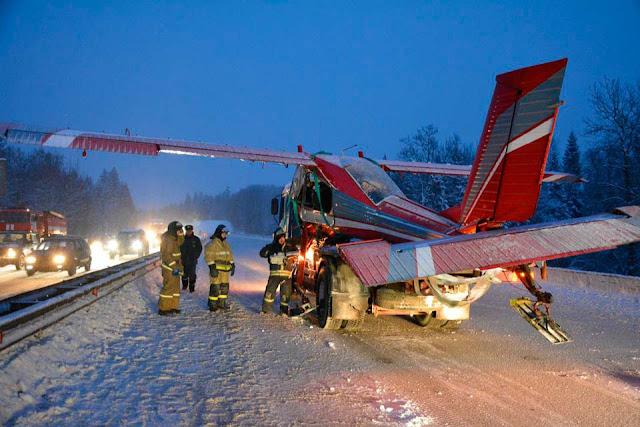 Самолёт жёстко сел на Ярославку Сергиев Посад