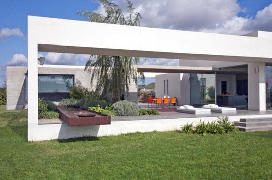 Casa con dise o minimalista de un piso fotos construye for Proyectos minimalistas