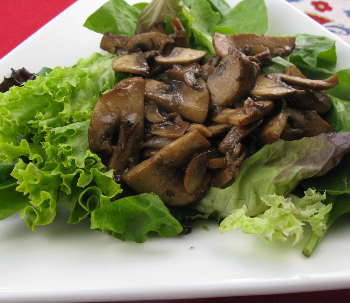 Table Scraps: Meatless Monday or not: Warm Mushroom Salad