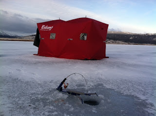 JawJacker ice fishing tip up