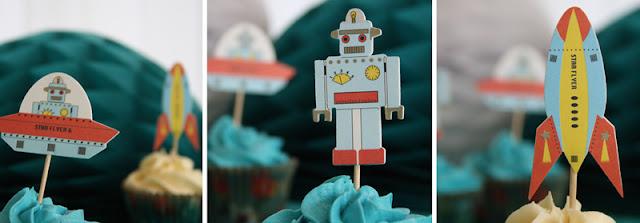 cupcake pynt - robottema