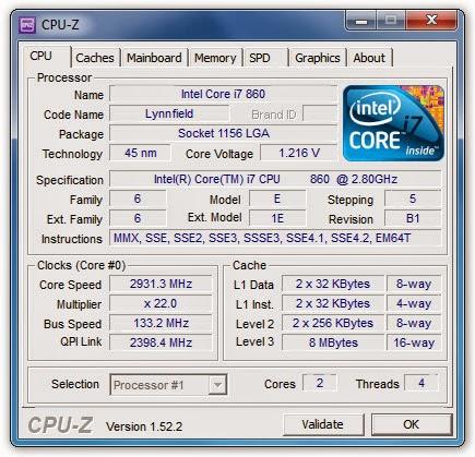 CPU Z 1.66