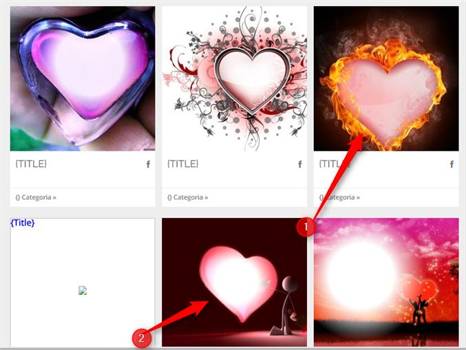 modelos de montagem de coração