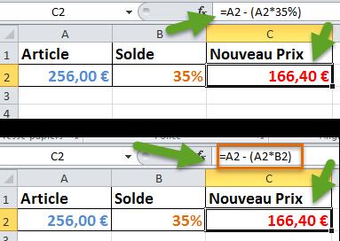 Calculer prix solde