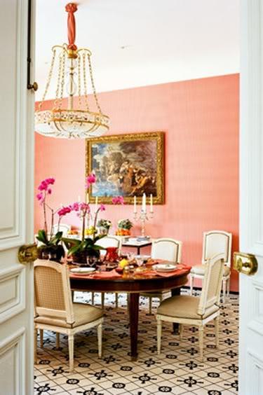 The glam pad 14 romantic pink dining rooms - Peach color interior design ...