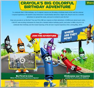 Crayola trip contest