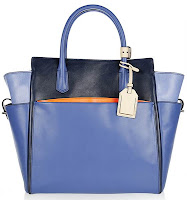 ATLANTIQUE LEATHER TOTE BLUE
