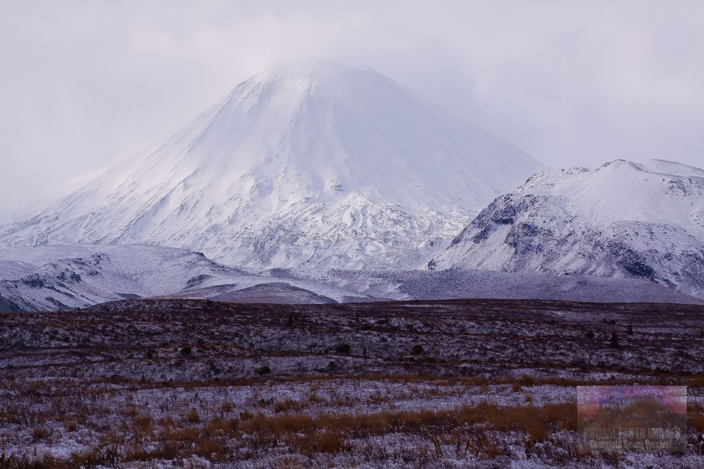 Mount Ngauruhoe After Severe Southerly Storm