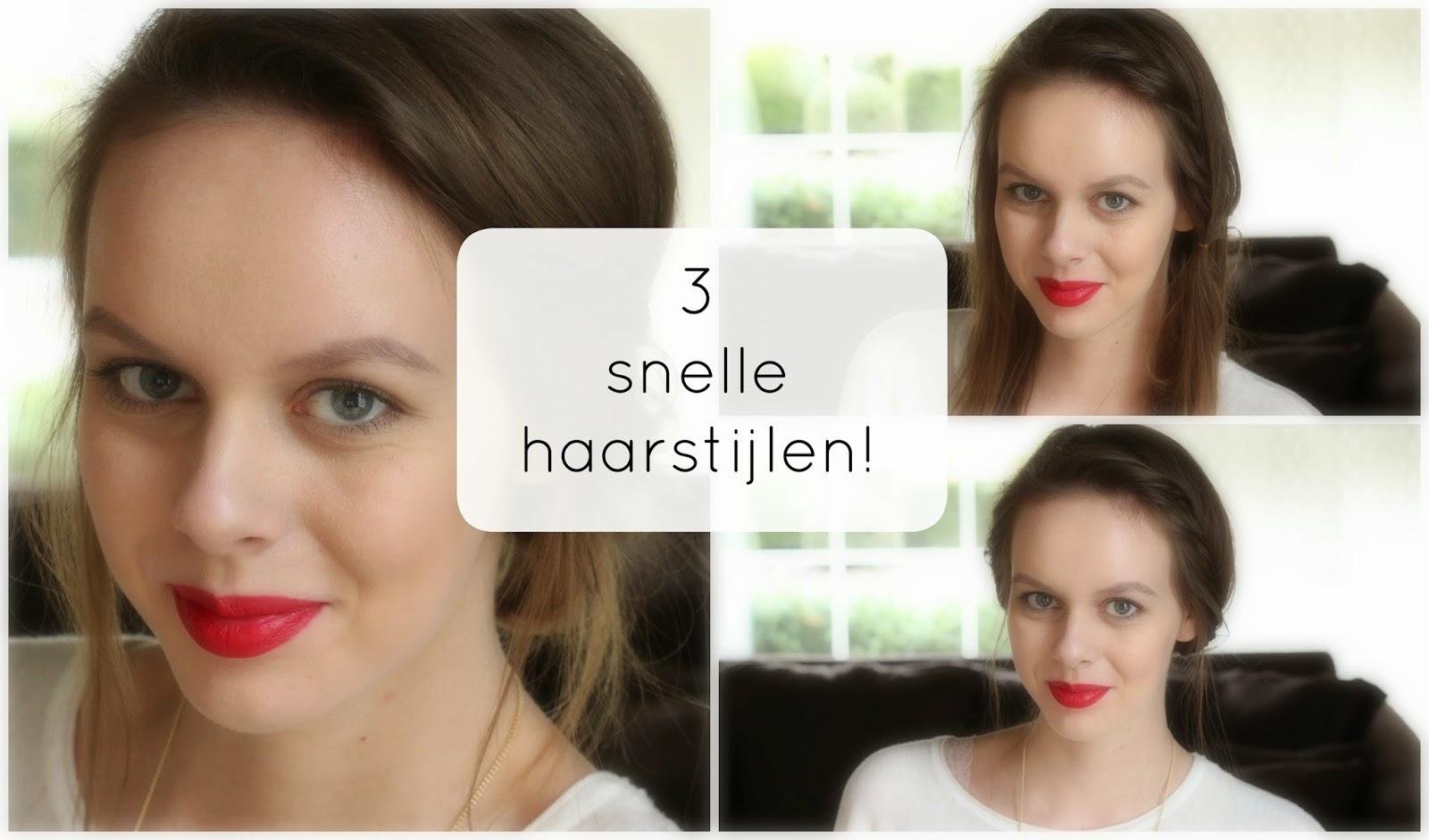 3 snelle haarstijlen