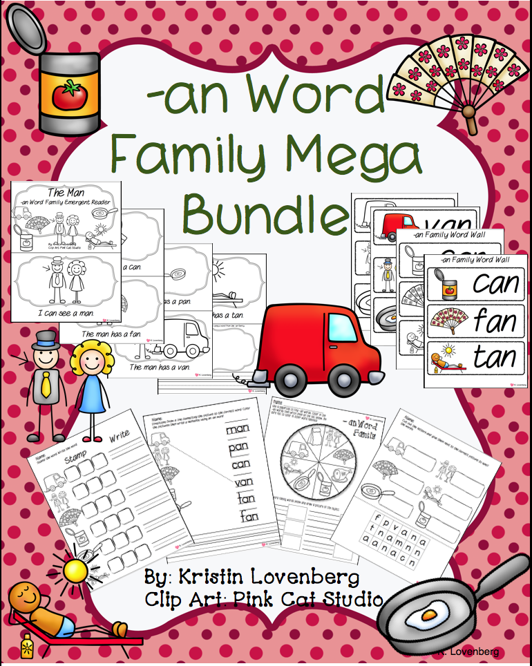http://www.teacherspayteachers.com/Product/Word-Family-Bundle-with-Emergent-Reader-at-1055180