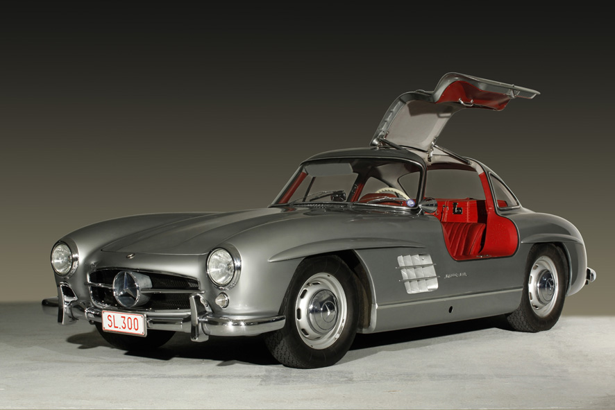 photo studio d 39 automobiles de collection mercedes 300 sl papillon. Black Bedroom Furniture Sets. Home Design Ideas
