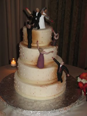 zombie wedding cake, zombie wedding, halloween wedding