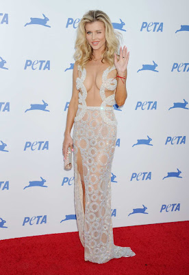 Joanna Krupa is nearly naked at PETA's 35th Anniversary Party in LA